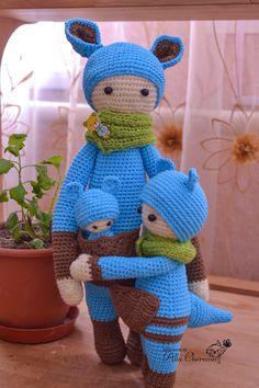 lalylala, crochet, Кенгуру Кира , для детей, игрушки для самых маленьких, игрушки Аллы Черноус, Кенгуру,