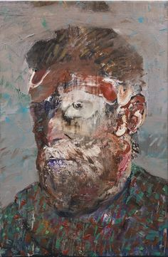 Adrian Ghenie (B. 1977), Self Portrait as Vincent Van Gogh, signed and dated 2012 on the reverse, oil on canvas, 19 by 12 in. 48.3 by 30.5 cm