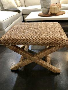 Seagrass Coffee Table Ottoman for the bonus room or sunroom