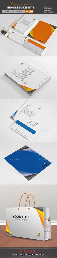 Corporate Branding Identity Template Vector EPS, AI Illustrator