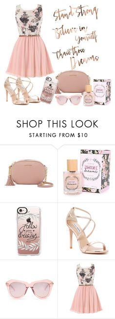 """""""Dream and Believe"""" by monique-joanne ❤ liked on Polyvore featuring MICHAEL Michael Kors, Casetify, Steve Madden and Karen Walker"""