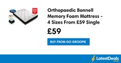 Orthopaedic Bonnell Memory Foam Mattress - 4 Sizes From £59 Single at Go Groopie