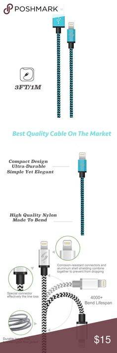 📱Electronics - Apple Charger (3ft) Sturdy and tangle-free design covered with braided-nylon fiber jacket and anodized Aluminum Alloy shell which is durable and sturdier than the normal lightning cable but also flexible and tangle-free. Compatible with: iPhone 6/6 Plus, iPhone 6s/6s Plus, iPhone 5/5c/5s, iPad Air, iPad with Retina Display, iPad mini, iPod Touch 5th Gen, and iPod Nano 7th Gen ✅Great deal!✅ Save with bundle discounts💰 I also offer customized bundles🛍  Interested? Leave a…