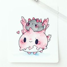one of my fav commissions (link in bio for to request one! First 150 Pokemon, Pokemon Special, Pokemon Funny, Pokemon Memes, Draw Pokemon, Kawaii Chibi, Kawaii Art, Kawaii Drawings, Easy Drawings