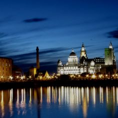 No visit to Liverpool is complete without a trip on the famous ferry across the Mersey to take in the spectacular skyline! with Flateau Graduations Liverpool Skyline, Liverpool Docks, Liverpool Home, Liverpool England, Amazing Places, Wonderful Places, Great Places, The Places Youll Go, Places Ive Been