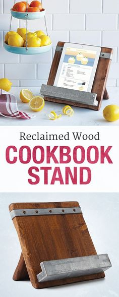 Give Mom's kitchen a dash of rusticity with a reclaimed wood cookbook stand.