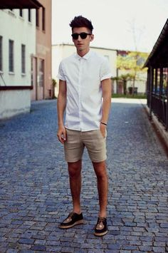 shorts short sleeve shirts and lace ups