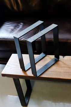 Ships within - Metal Leg Bench Leg Square Leg Furniture Leg Table Leg Steel Leg Wood Furniture Store, Reclaimed Wood Furniture, Furniture Legs, Industrial Furniture, Furniture Projects, Furniture Design, Bedroom Furniture, Metallic Furniture, Cardboard Furniture