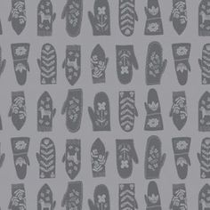Rae Ritchie - Snofall - Mittens in Grey