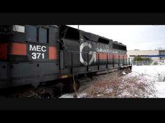 FL 1 MEC #371 GP40 Backing off the Heywood Branch at Gardner Ma
