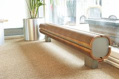 The Knockonwood Freestanding DBE, used at Couch Perry & Wilkes, Birmingham. Contemporary Radiators, Decorative Radiators, Radiator Heater, Unique Furniture, Furniture Ideas, Radiator Cover, Next At Home, Living Room Designs, Entryway Tables
