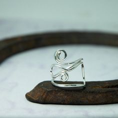 Silver Ring  Statement Ring for the Artist  Calder by thebeadgirl, $92.00
