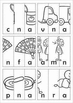 FREE Word Families - CVC & CCVC Cut & Paste Picture Scrambles. A fun and interactive word work activity.