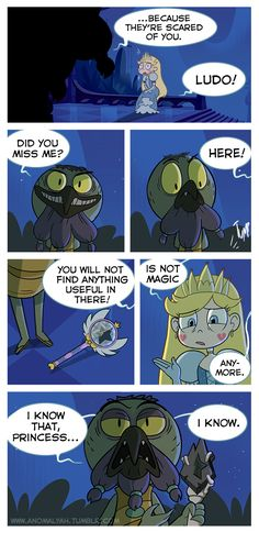 "[COVER] [PREVIOUS PAGE] [NEXT PAGE] As night was covering Mewni, Star was pondering over what her mother had told her when she returned. ""It's alright Star! Please don't cry,"" Moon said. ""You're a..."