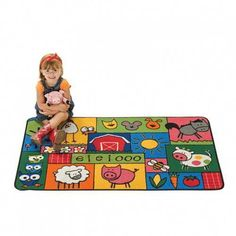 Product ID:6377378349 #CarpetsForKids Carpets For Kids, Kids Rugs, Farm Rugs, Classroom Carpets, Preschool Furniture, Little Learners, Discount Rugs, Rugs On Carpet
