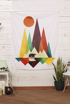 "Wall Tapestry: ""Great Outdoors"" by radiomode 