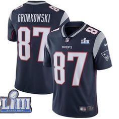 1860f7c9b3a Nike New England #Patriots #87 Rob Gronkowski Navy #2019 Super Bowl LIII  Vapor