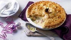 You'll be glad of all that leftover turkey when you taste this delicious pie! It will also use up ham, gravy and a little sherry.   For this recipe you will need a 1.2-1.5 litre/2-2½ pint pie dish.
