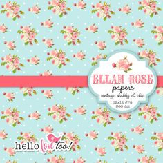 INSTANT DOWNLOAD Ellah Rose shabby chic digital by hellolovetoo