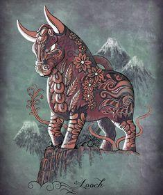 Torito de Pucará. Looch.  Artwork by José Luis Príncipe Bull Tattoos, Tatoos, Horse Skull, Peruvian Art, Inca Tattoo, Design Tattoo, Art Tips, Eliot Tupac, Cartoon Art