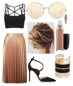 """Untitled #24"" by frid1445 on Polyvore featuring Miss Selfridge, Balmain, Gianvito Rossi, MAC Cosmetics and Victoria Beckham"