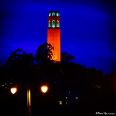 Coit Tower --orange for the S.F. Giants!