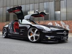 SLS AMG with the Gullwing doors
