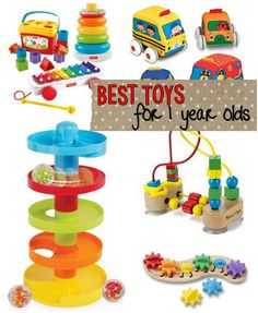 Not sure what toys to get your one year old? Here's a great list of twin-tested, mom-approved toys. The 9 Best Toys for 1 year olds.