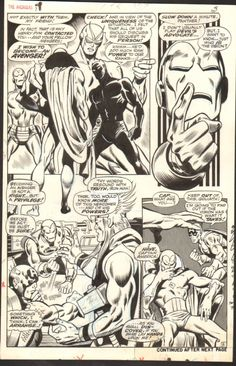Avengers #58 Page 3 (John Buscema) (1968), in Daren Domina's Buscema Avengers Art (John and Sal) Comic Art Gallery Room - 978809