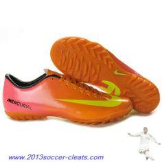 2013 Nike Mercurial Vapor IX TF Orange Yellow For Sale