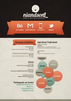 Meu currículo!! by Niandson Leocádio, via Behance