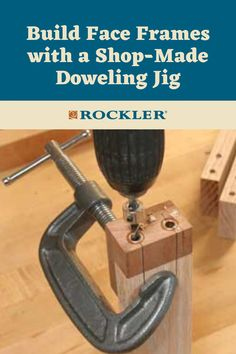 A little scrap and a couple of bushings are all it takes. Let us help you create with confidence here! #CreateWithConfidence #Scrap #Bushings #DowelingJig #FaceFrame Scrap Wood Projects, Cool Woodworking Projects, Woodworking Jigs, Dowel Jig, Rip Cut, Drill Press Table, Face Framing, Crafts To Sell, Helpful Hints