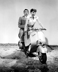 :Gregory Peck and Audrey Hepburn, Roman Holiday (1953)