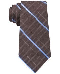 Michael Michael Kors Pin Plaid Slim Tie