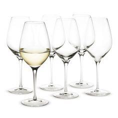 Holmegaard is a highly-respected glassmaker. But price will start adding up quickly depending on qty we want. Cabernet Wine glass, 25 cl Set of 6 - Peter Svarrer - Holmegaard - RoyalDesign.com