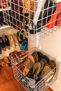 Weekend Project: Custom Shoe Closet Weekend Project: Custom Shoe Closet Two easy tutorials to DIY your own custom shoe closet over the weekend. Two easy tutorials to DIY your own custom shoe closet over the weekend Shoe Storage Diy, Diy Shoe Rack, Closet Storage, Shoe Organizer Closet, Shoe Storage Ideas For Closet, Flip Flop Organizer, Flip Flop Storage, Closet Bedroom, Closet Space