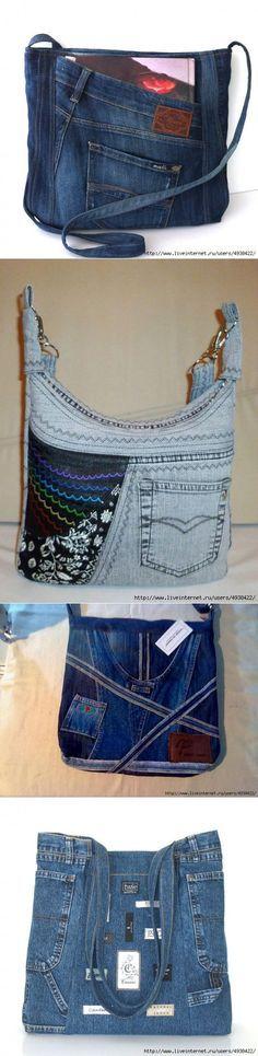 * СУМКИ дамские ! Женщины знают, что из всех aксессуaров именно сумка - самая вaжная деталь ! Она являeтся неотъемлeмой чaстью облика Жeнщины. Желаете, чтобы у вас была сумка оригинальная, модная и недорогая? Сумки из джинсовой ткани – это как раз нужный вариант ! Судите сами: сейчас брюки шьют из джинсы разных цветов. Выбор за вами !..