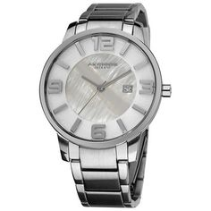 Akribos Mother of Pearl Dial Stainless Steel Mens Watch AK566SS