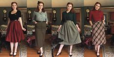 Rachel Masky - A Pinup Companion Vintage Inspired Fashion, 1940s Fashion, Vintage Fashion, Vintage Girls, Vintage Dresses, Vintage Outfits, Looks Vintage, Vintage Style, 20th Century Fashion