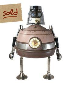 Our Favorites » Nerdbots » found-object robot sculptures for geeks & nerds alike