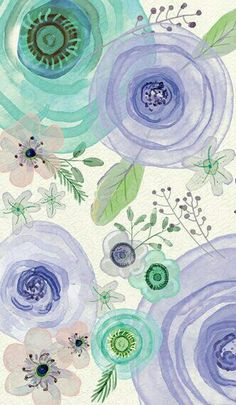 30 Ideas Flowers Wallpaper Aquarell For 2019 Flower Wallpaper, Pattern Wallpaper, Wallpaper Backgrounds, Iphone Wallpaper, Art Watercolor, Watercolor Flowers, Poster Photo, Art Graphique, Art Design