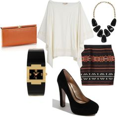 A fashion look from February 2012 featuring Alice + Olivia blouses, Proenza Schouler mini skirts and BCBGeneration pumps. Browse and shop related looks.