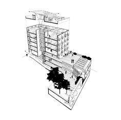 EDIFICIO DE VIVIENDAS EN LA CALLE PUJADES DE BARCELONA VIVIR EN COMÚN Nuestra propuesta está basada en el convencimiento de que el hecho de compartir espacios y recursos en la vivienda es positivo ...