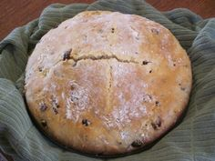 Irish Rosie's Irish Soda Bread  www.losewithskinnyfiber.com  Ingredients 3 1/2 cups flour 1/2 cup sugar 1/2 teaspoon baking soda 2 teaspoons baking powder 1 teaspoon salt 1 pint sour cream 2 eggs 2 tablespoons caraway seeds ( optional but I always use them) 3/4 cup raisins Directions Combine dry ingredients together in a large bowl. In a small bowl beat eggs and stir in sour cream. Add the egg and sour cream mixture to the dry ingredients and stir with a wooden spoon. Batter will be very ...