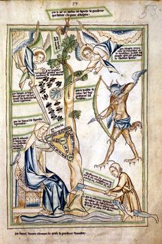 Allegory of Christian life from the Lambeth Apocalypse [LPL MS209 f.53]