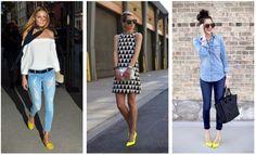 como combinar los zapatos amarillo