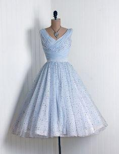 Pale Blue 1950's dress