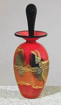 Winfisky Art-Glass Perfume | glass platters || glass paper weights || glass perfume bottles  ...★༺❤༻★