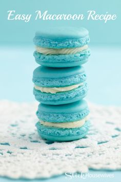 Easy Macaroon Cookie Recipe - made with almond flour! Not low carb or healthy ... But looks gluten free so it rates a pin. :)
