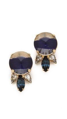 Gem stud earrings. LOVE